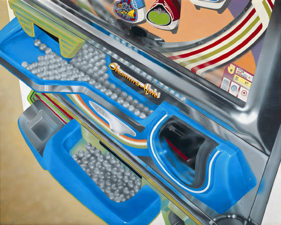 Pachinko machine painting, Japanese pinball