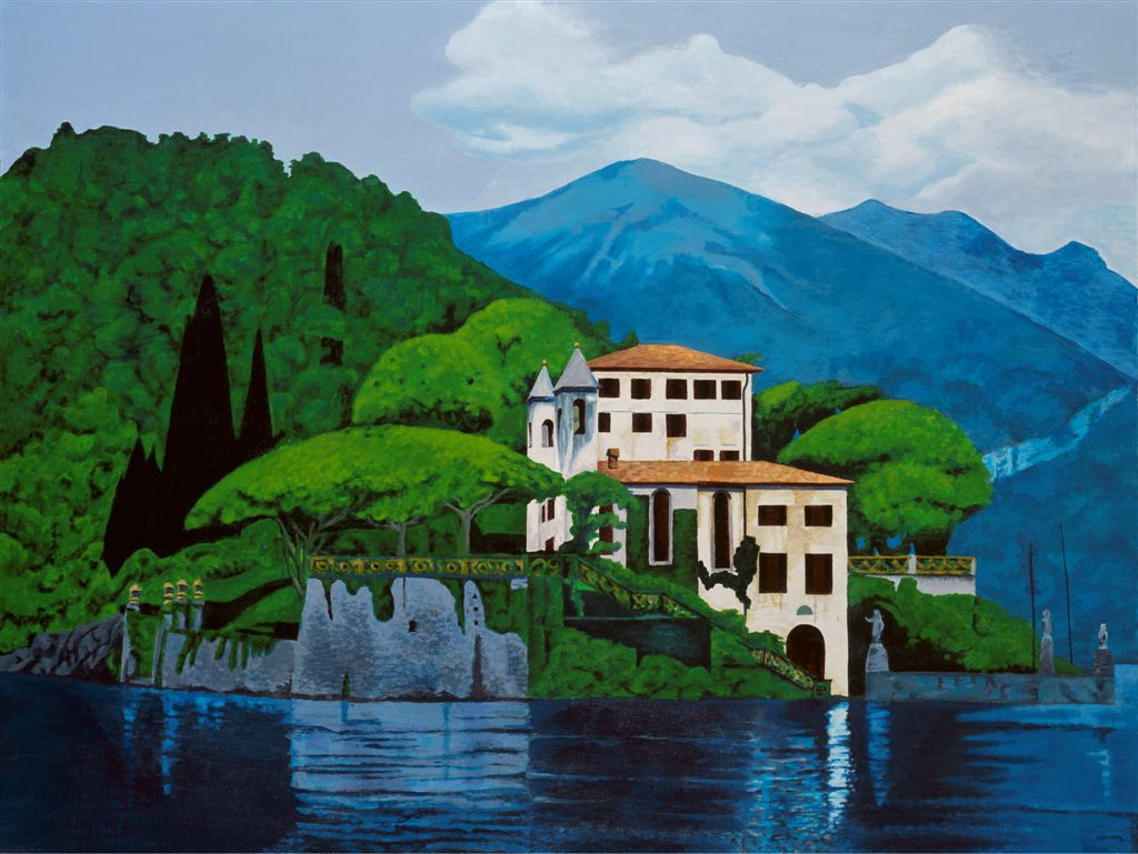 Lake Como Villa painting
